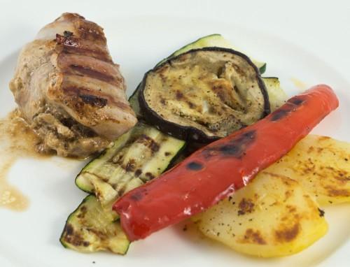 Hähnchenbrust und Grillgemüse