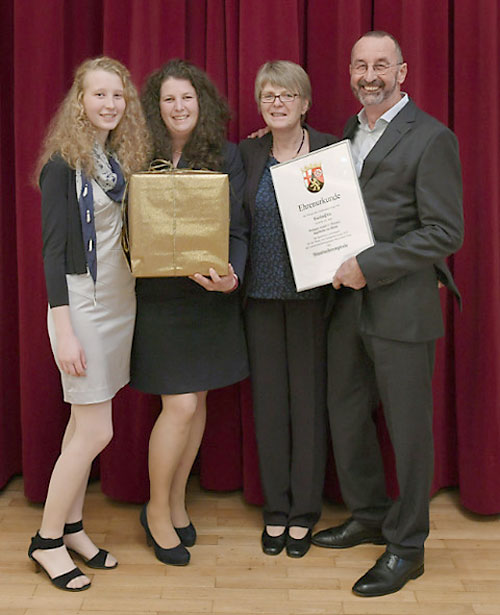Winzerfamilie Weitzel bei der Ehrenpreisverleihung