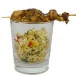 Herzhafter Geflügelspieß auf Couscous